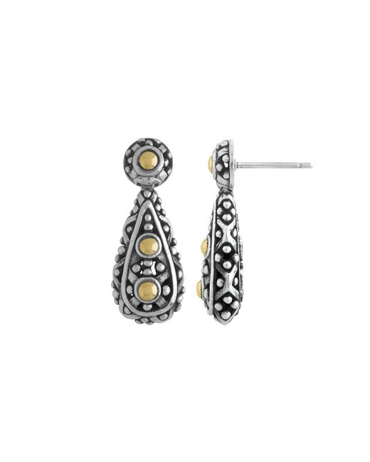 John Hardy - Multicolor Jaisalmer Two-tone Teardrop Earrings - Lyst