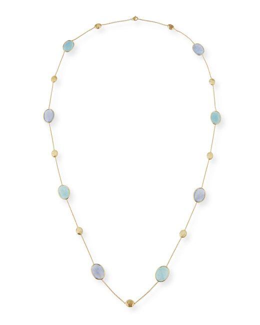 Marco Bicego - Multicolor Siviglia Resort Aquamarine & Chalcedony Long Necklace - Lyst