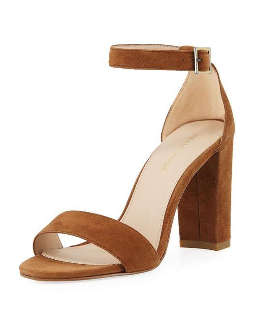 Pelle Moda - Brown Bonnie High Suede Sandals - Lyst