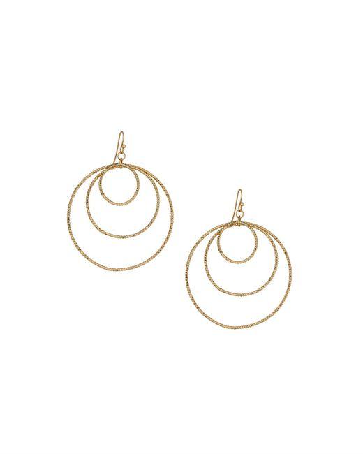 Panacea | Metallic Golden Orbital Hoop Drop Earrings | Lyst