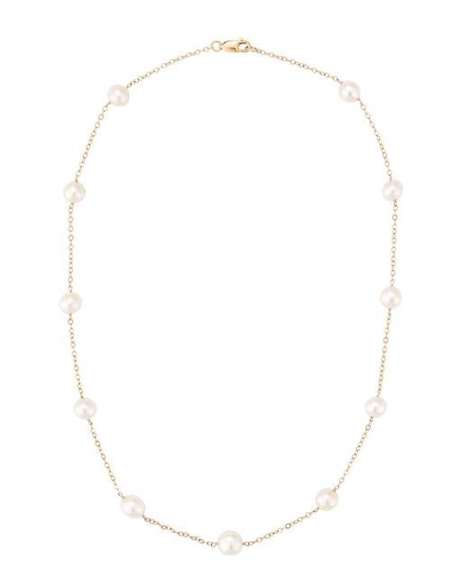 Belpearl | Multicolor 14k Akoya Pearl Station Necklace | Lyst