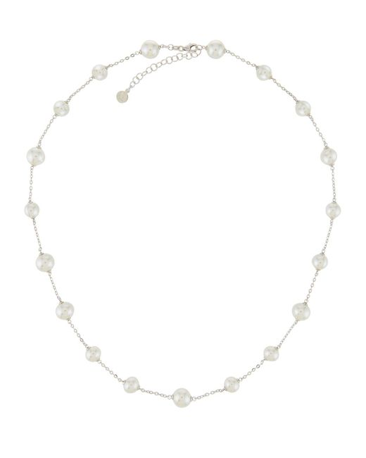 Majorica - Metallic Multi-pearl Station Necklace - Lyst