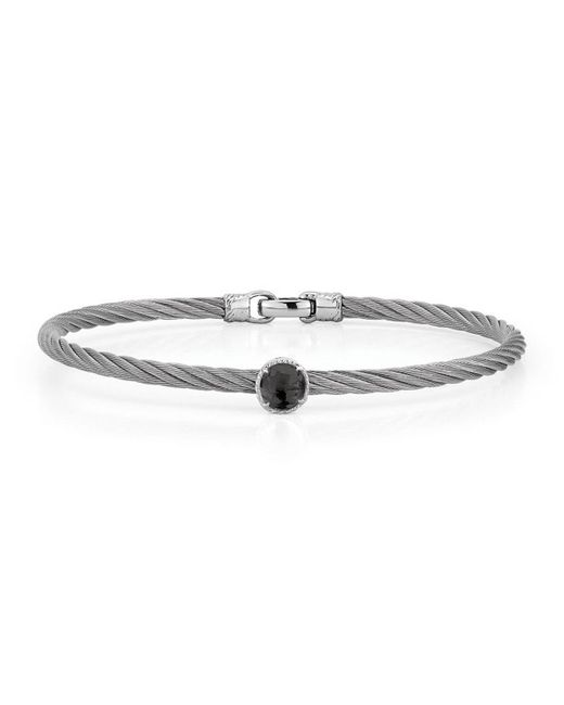 Alor - Multicolor Stainless Steel & Onyx Cable Bracelet - Lyst