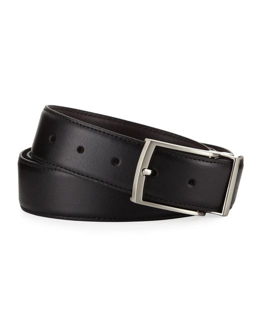 Nike - Black Reversible Leather Belt for Men - Lyst