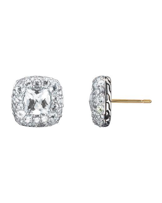 John Hardy | White Small Square Earrings | Lyst