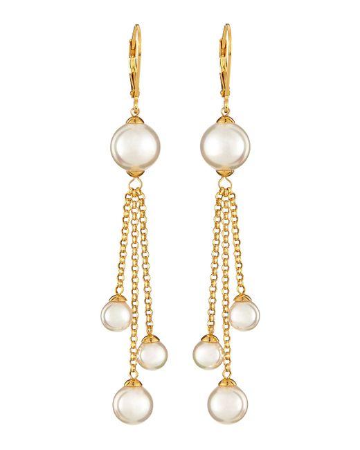 Majorica | Metallic Pearl Fringe Earrings | Lyst