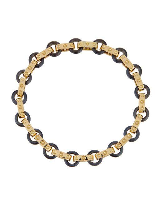 Roberto Coin - Pois Moi 18k Yellow Gold & Titanium O-ring Bracelet - Lyst