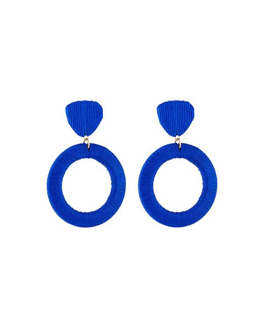 Lydell NYC - Blue Wrapped Drop Earrings - Lyst
