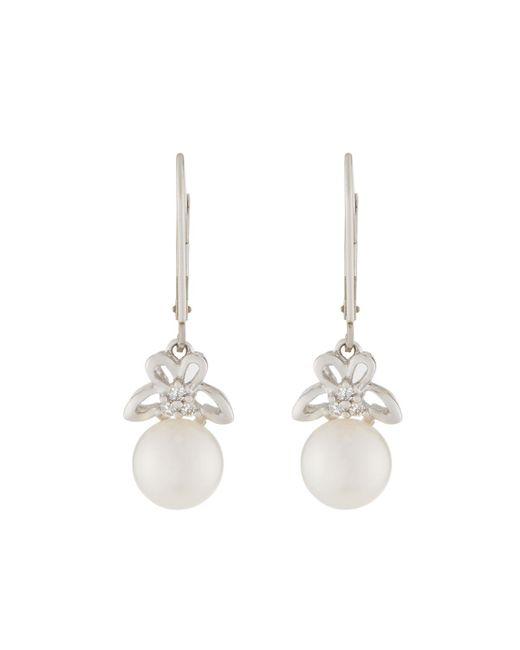 Belpearl - Multicolor 14k Diamond & Akoya Pearl Drop Earrings - Lyst
