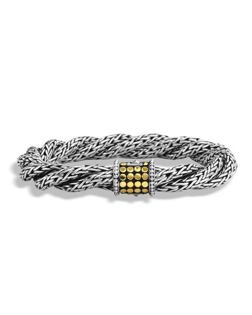 John Hardy - Metallic Dot Triple Twist Bracelet Size M - Lyst