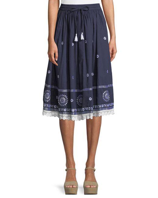 Naudic - Blue Biba Safari Skirt - Lyst