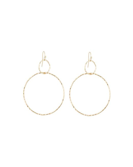 Lydell NYC - Metallic Interlocking Drop Hoop Earrings - Lyst