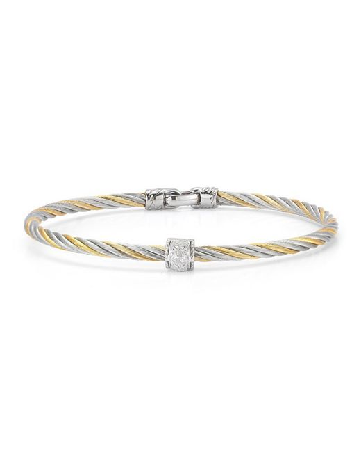 Alor | Multicolor Two-tone Stainless Steel & Diamond Cable Bracelet | Lyst