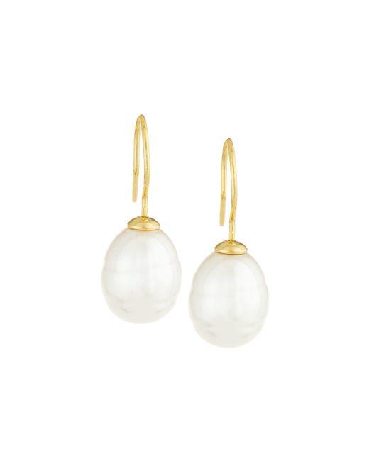 Majorica | White Baroque Pearl Drop Earrings | Lyst