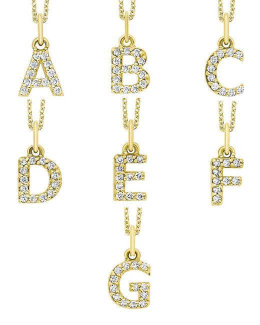KC Designs | White 14k Yellow Gold Diamond Initial & Chain | Lyst