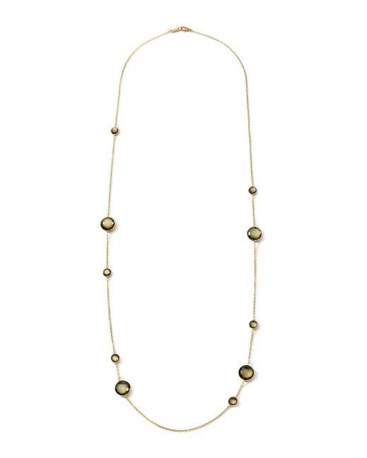 Ippolita | Metallic 18k Rock Candy Lollipop Necklace In Citrine/pyrite Doublet | Lyst