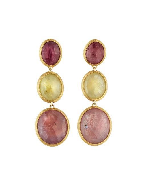 Marco Bicego | Multicolor Siviglia 18k 3-sapphire Drop Earrings | Lyst