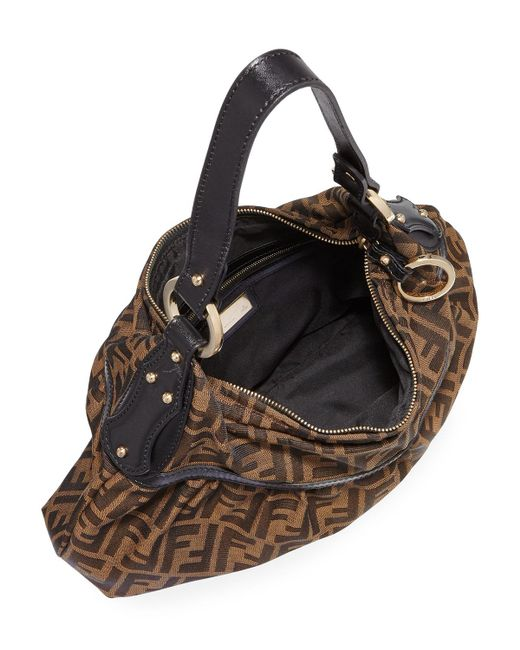 2485875a61c5 ... Fendi - Preowned Ff Logo-embossed Brown Zucca Canvas Shoulder Bag - Lyst  ...