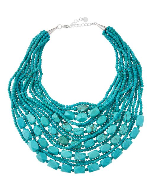 Nakamol | Blue Turquoise-hued Beaded Statement Necklace | Lyst