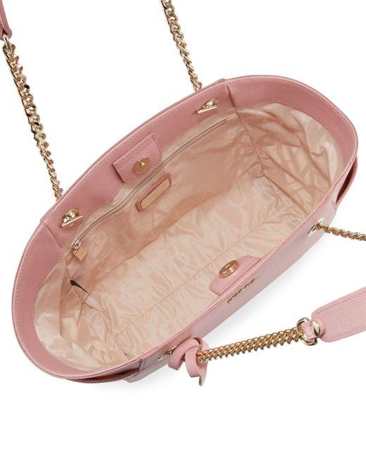 Furla Julia Medium Leather Tote Bag in Pink (WINTER ROS ...