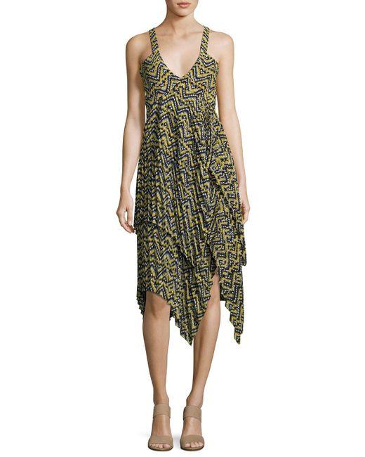 A.L.C. - Multicolor Kendall Printed Handkerchief Dress - Lyst