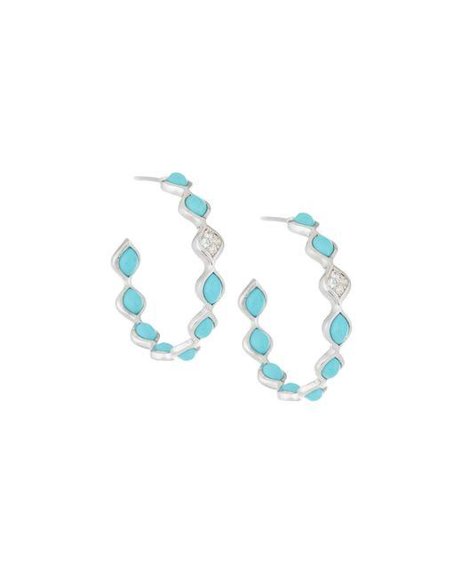 Elizabeth Showers | Blue Simone Small Eternity Hoop Earrings | Lyst