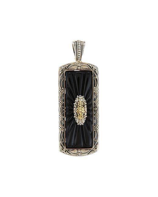 Konstantino   Black Iris Silver & 18k Carved Onyx Rectangle Pendant Enhancer   Lyst