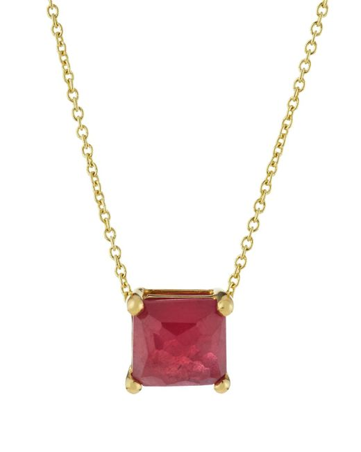 Ippolita   Metallic 18k Rock Candy Mini Single Square Sliding Composite Ruby Pendant Necklace   Lyst