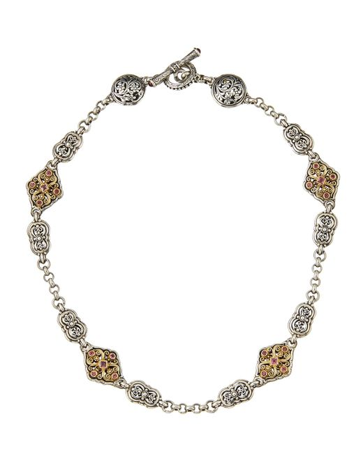 Konstantino | Multicolor Pink Tourmaline Filigree Station Necklace | Lyst