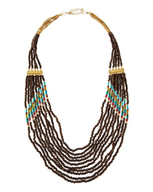 Nakamol | Multicolor Long Layered Seed Bead Necklace | Lyst