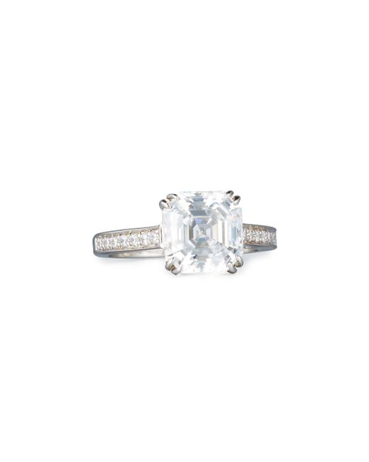 Fantasia by Deserio | Multicolor Asscher-cut Clear Cubic Zirconia Ring | Lyst