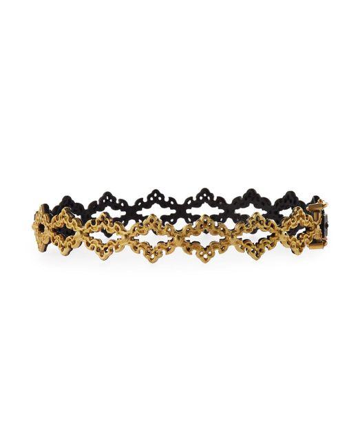 Armenta - Metallic Old World Open Scroll Huggie Bracelet - Lyst