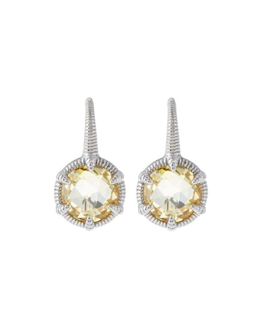 Judith Ripka | Multicolor Eclipse Round Canary Crystal Drop Earrings | Lyst