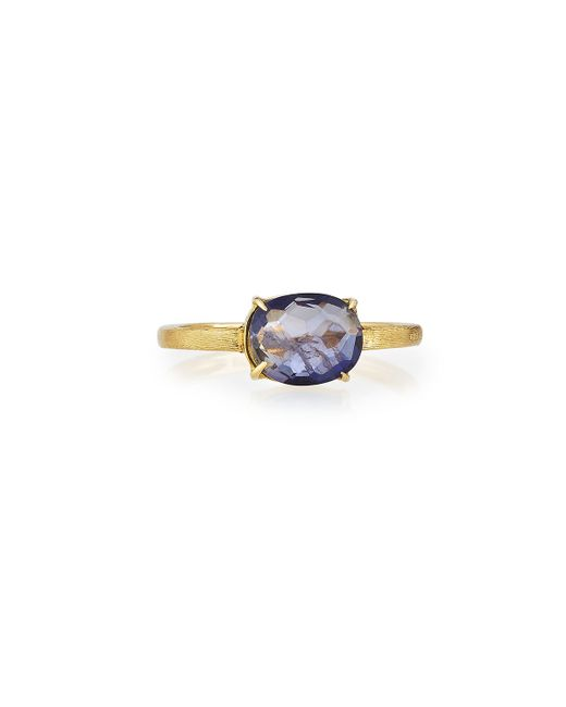 Marco Bicego   Multicolor 18k Oval Iolite Solitaire Ring   Lyst