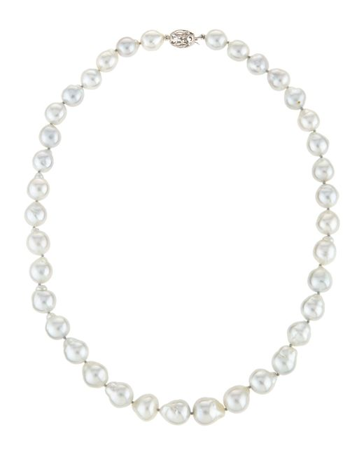 Belpearl | Baroque White South Sea Pearl Necklace | Lyst