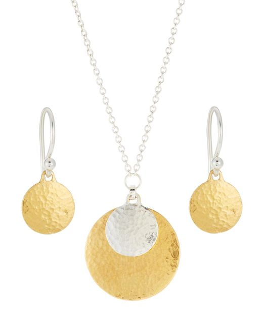 Gurhan   Metallic Lush Double Drop Earring & Necklace Boxed Set   Lyst