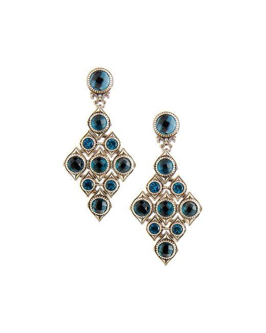 Konstantino   Diamond-shaped Blue Topaz Drop Earrings   Lyst