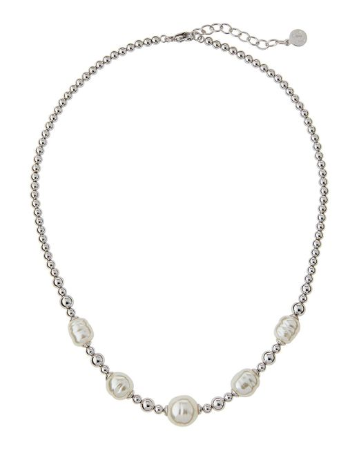 Majorica | White Allison Beaded Baroque Pearl Necklace | Lyst