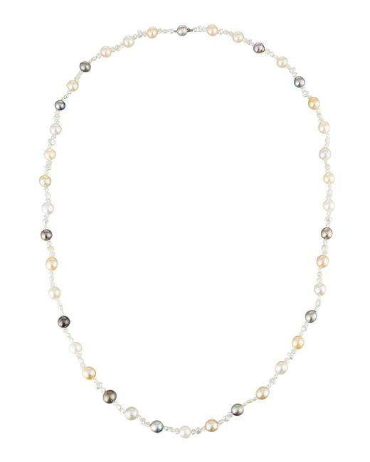 Belpearl | Metallic Multicolor Off-round/baroque Pearl Necklace | Lyst