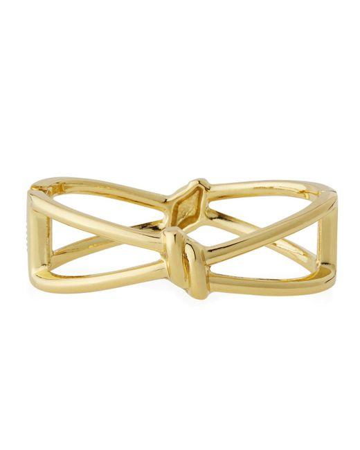 Lydell NYC | Metallic Golden Knot Hinged Bracelet | Lyst