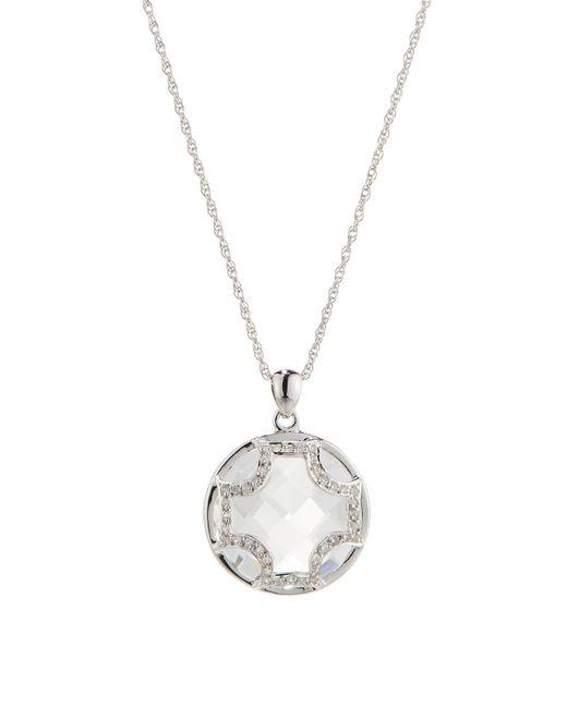 Elizabeth Showers | Metallic White Quartz Maltese Cross Pendant Necklace | Lyst
