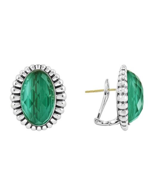 Lagos | Green Venus Fluted Earrings | Lyst