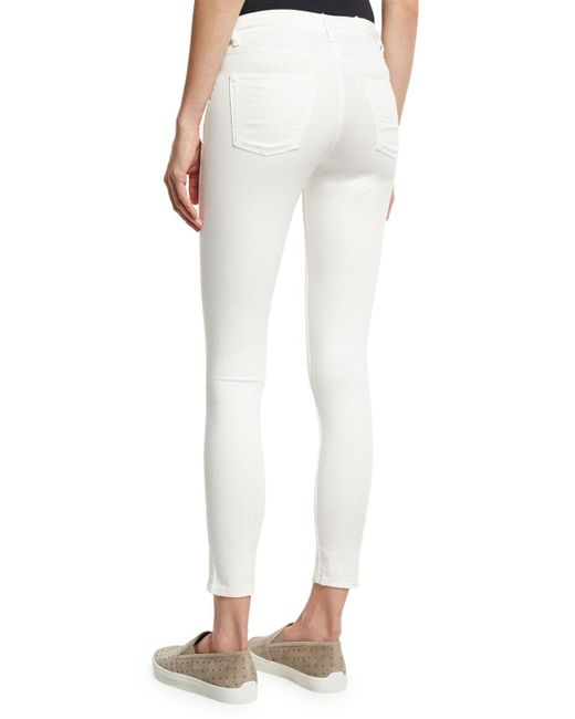 Cheap monday Spray-on Mid-rise Skinny Jeans in White | Lyst