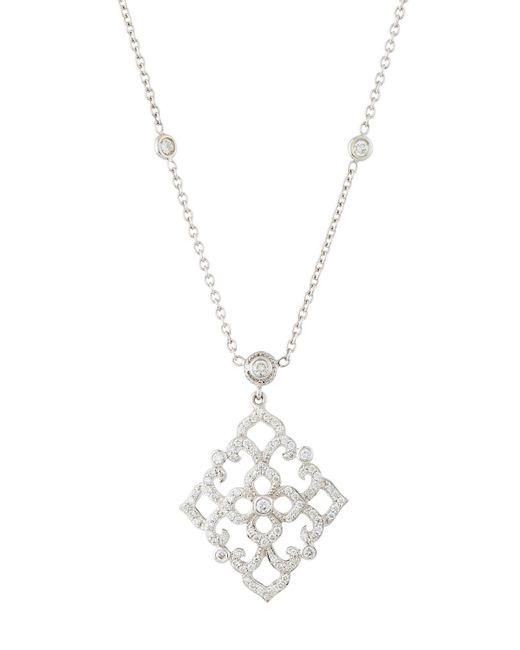 Penny Preville   Metallic Diamond Lace Pendant Necklace   Lyst