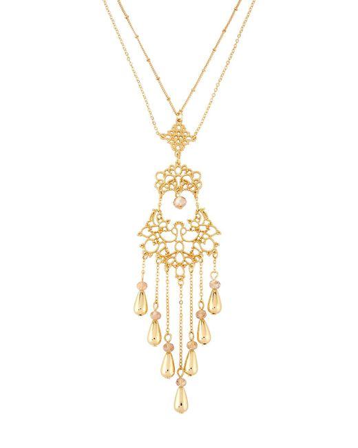 Fragments   Metallic Long Filigree Tassel Pendant Necklace   Lyst