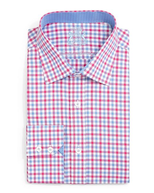 English laundry gingham check dress shirt in multicolor for Mens gingham dress shirt