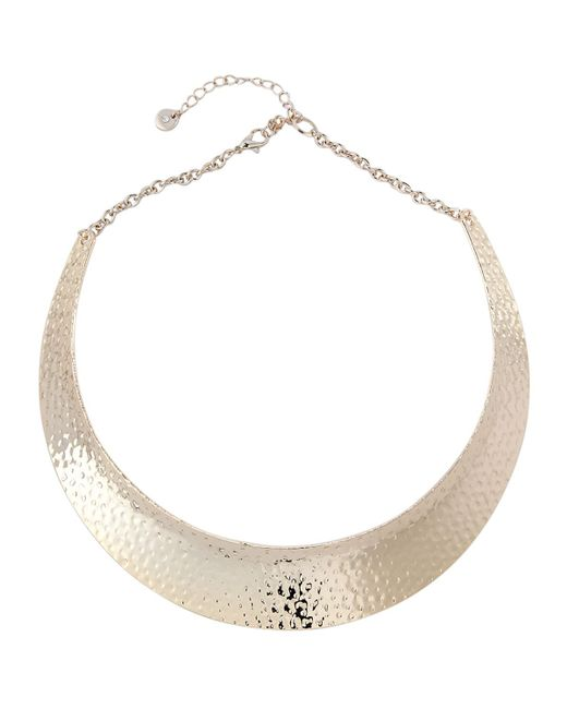Lydell NYC | Metallic Golden Hammered Collar Necklace | Lyst