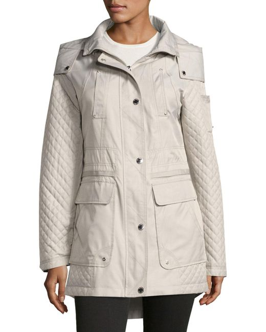 Laundry by Shelli Segal | White Cloud Quilted Anorak Jacket | Lyst
