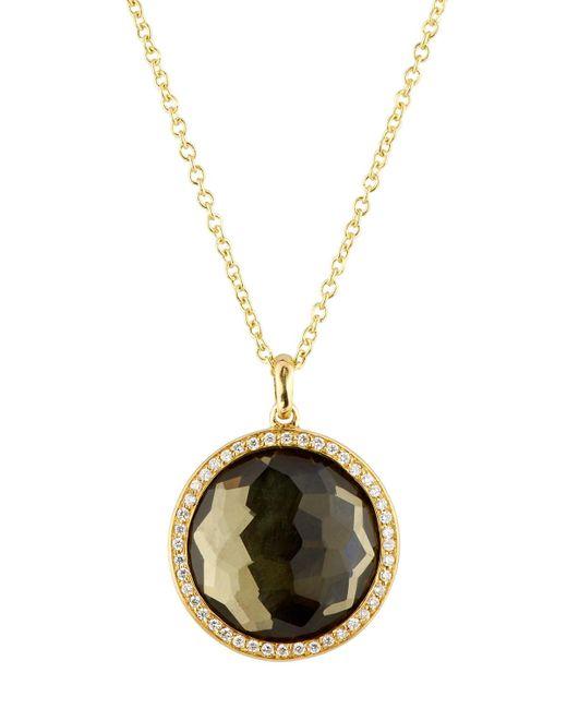 Ippolita   Metallic 18k Lollipop® Citrine & Diamond Pendant Necklace   Lyst