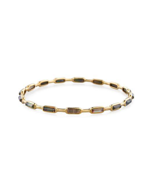 Ippolita | Metallic 18k Gold Rock Candy Gelato 16-stone Bangle In Black Shell | Lyst